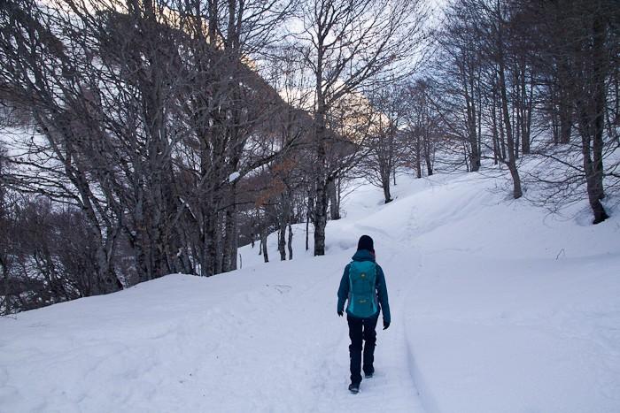 Randonnée dans la neige du cirque de Gavarnie