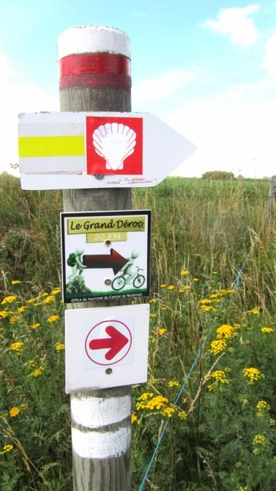 Via Podiensis, VTT Grand Déroc,panneaux randonnée