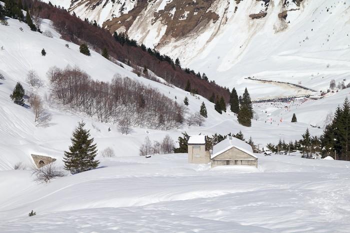 Pont de la Gaubie sous la neige