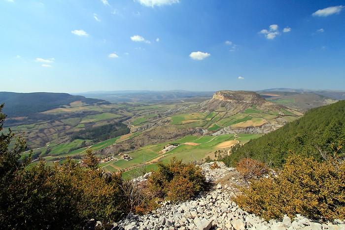 Vue sur la vallée depuis le sommet de la forêt de Rivière sur Tarn