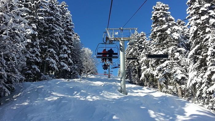 Télésiège sur la station de ski de Barèges