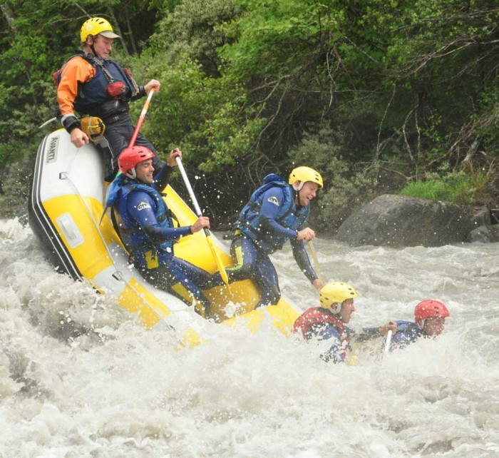 Rafting mouvementé