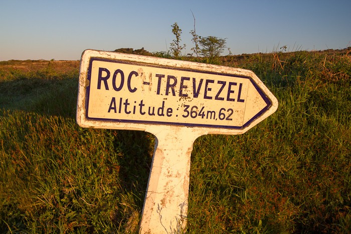 Départ de la randonnée pour le Roc Trevezel