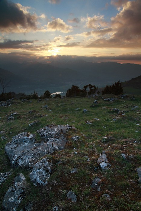 Couché de soleil sur les Pyrénées