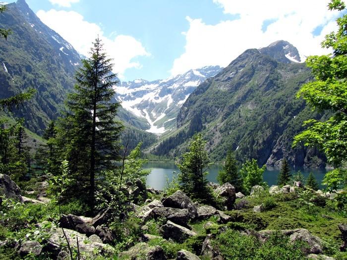 Lac du Lauvitel, dans le Vallon du Lauvitel