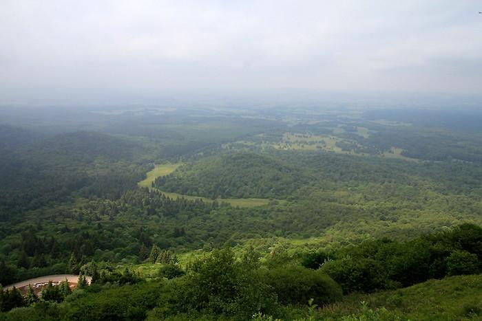Panorama depuis la montée vers le Puy-de-Dôme