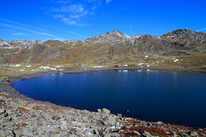 Arrivée au lac Rond dans les Hautes-Alpes