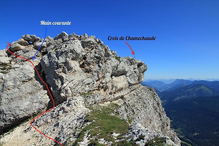 Dernière montée avant le sommet de Chamechaude