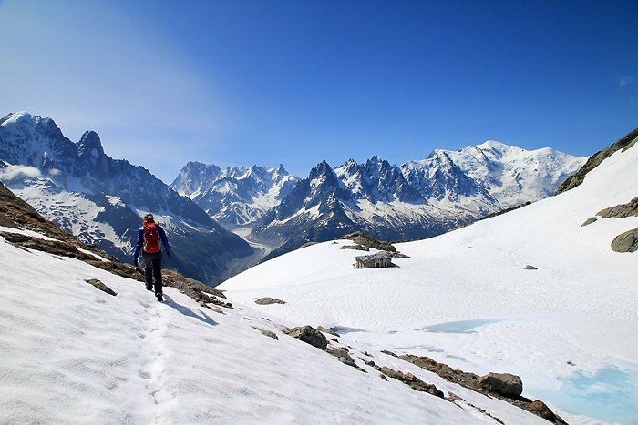 Le lac Blanc et le Mont Blanc