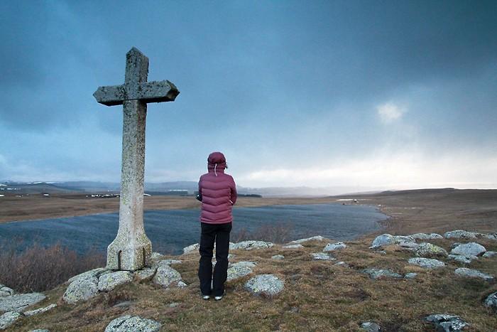 Doudoune Patagonia au lac de Saint Andéol