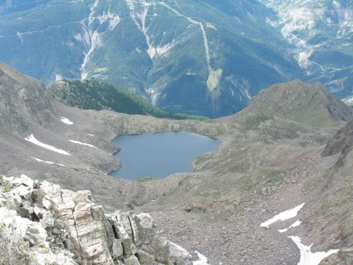 Lac Fer vu du Mt Ténibre - Haute Tinée