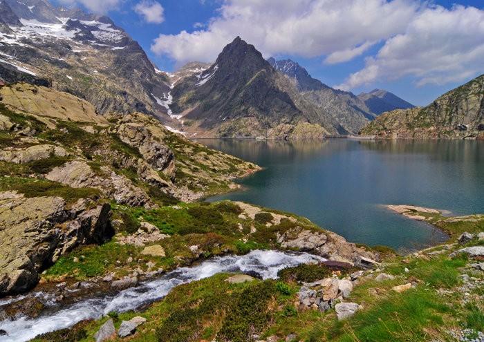 Lac Brocan dans le Mercantour