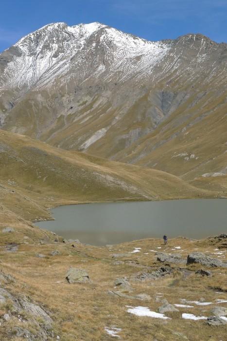 Lac du Goléon, avec des restes de neige