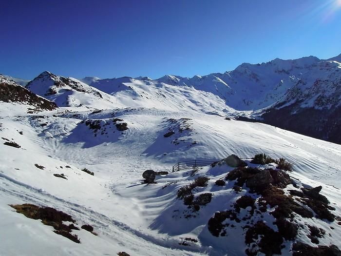 Vue sur les sommets depuis Hautacam, Pyrénées
