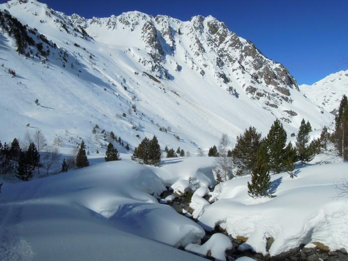 Raquettes à neige au dessus de Barèges