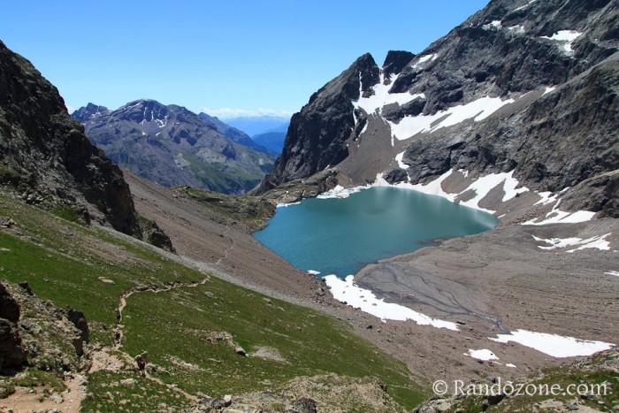 Lac de l'Eychauda depuis le col des Grangettes