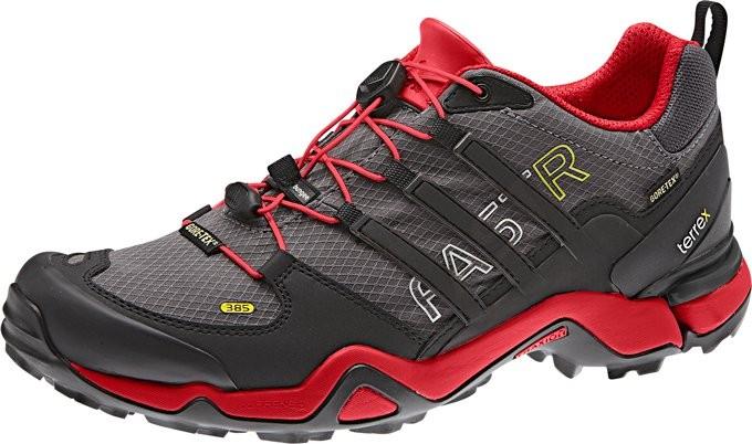 Chaussures Adidas Terrex FastR Gtx Noire et rouge