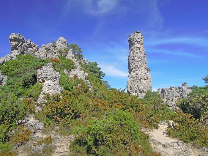 """""""Quille"""" dans le Chaos de Montpellier le Vieux"""