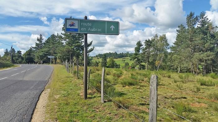 Route sur l'Aubrac, pour le retour