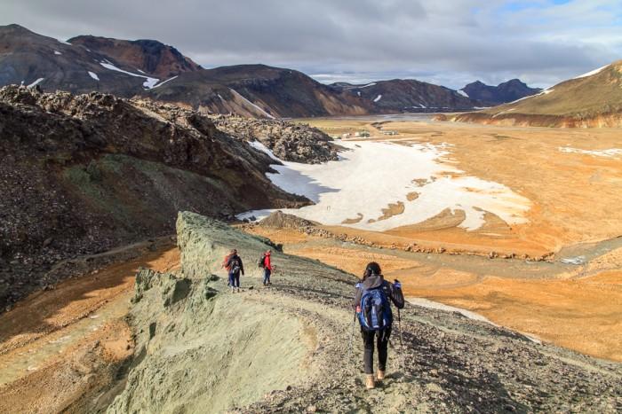 Randonnée pédestre : Randonnée à la montagne panoramique du Bláhnúkur