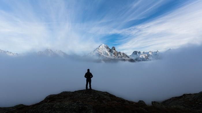Brouillard et Aiguille-Verte