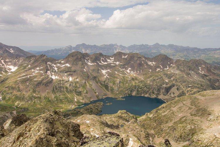 Gavizo-Cristail (2890 mètres) depuis la maison du Parc