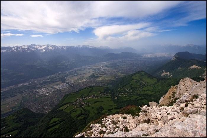 Vue sur la vallée de Grenoble