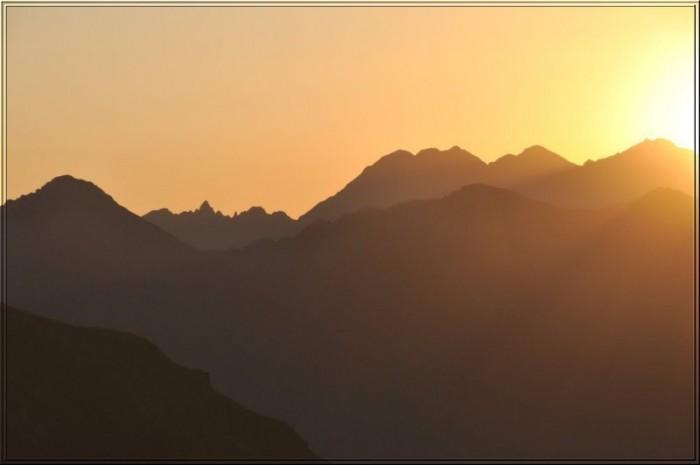 Lever de soleil sur le Viscos
