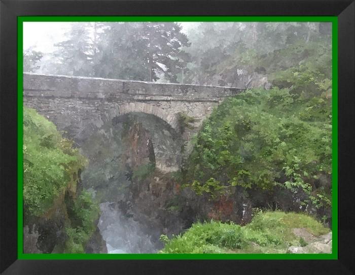 Pont d'Espagne, photo stylisée