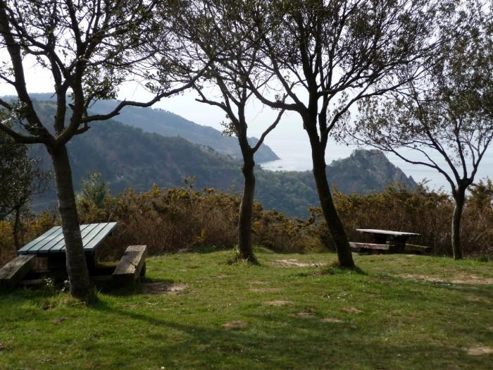 Aire de picnic près du fort