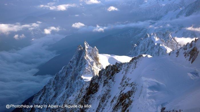 Aiguille du Midi en contrebas