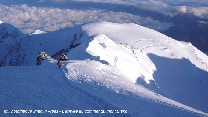 Arrivée au Mont Blanc