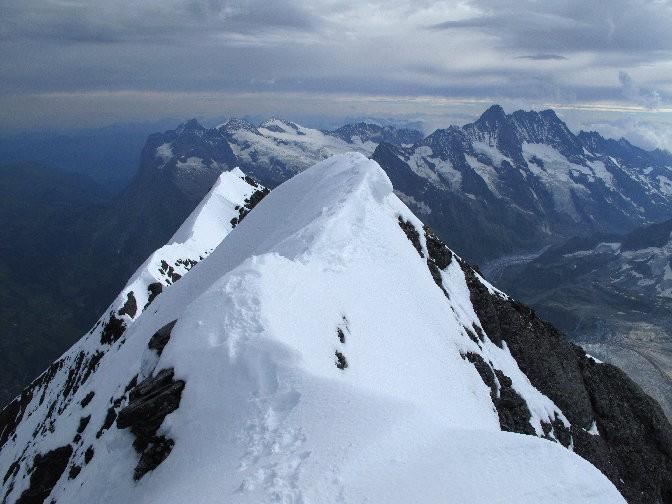 L'arête sommitale de l'Eiger