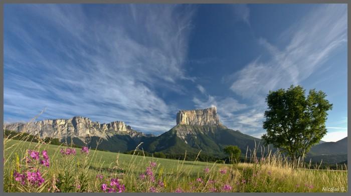 Le Mont Aiguille depuis Chichilianne