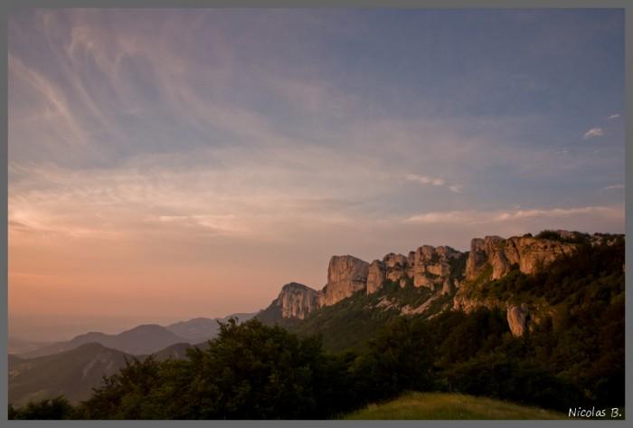 Monts du Matin depuis le col de Tourniol