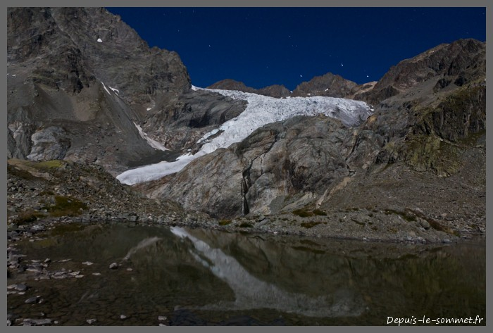 Glacier Blanc depuis le lac Tuckett