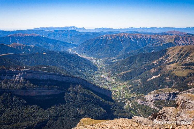 Belle vue sur les canyon espagnols depuis l'Escuzana