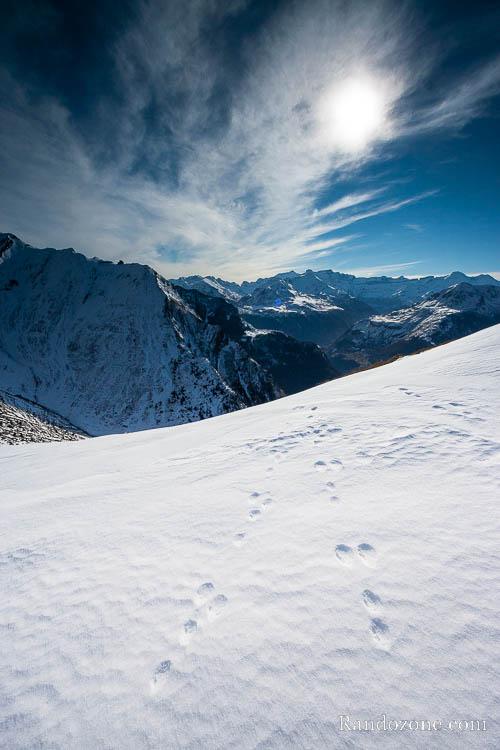 Montée au Bergons en hiver