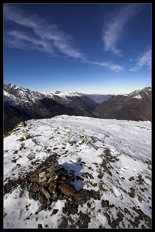 Sommet du Bergons en hiver