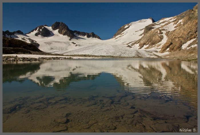 Pic de l'Etandard et le glacier de Sarenne