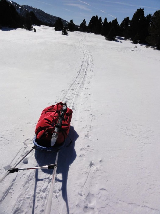 Randonnée raquettes : Les Hauts-Plateaux du Vercors en pulka