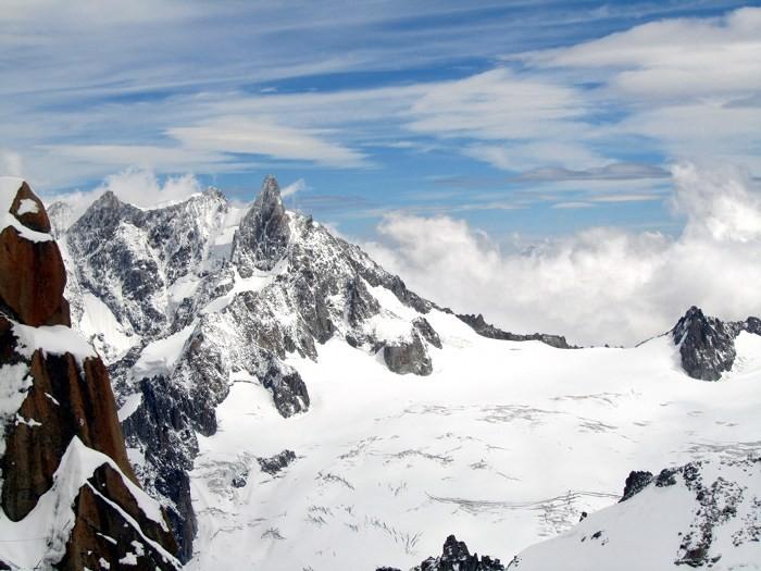 L'Aiguille du Midi: montée en téléphérique