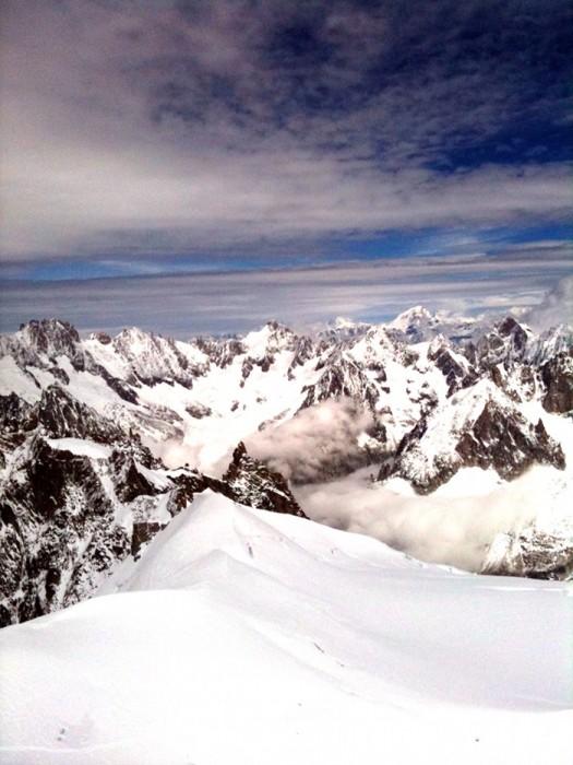 Vue depuis l'Aiguille du Midi - ALPES