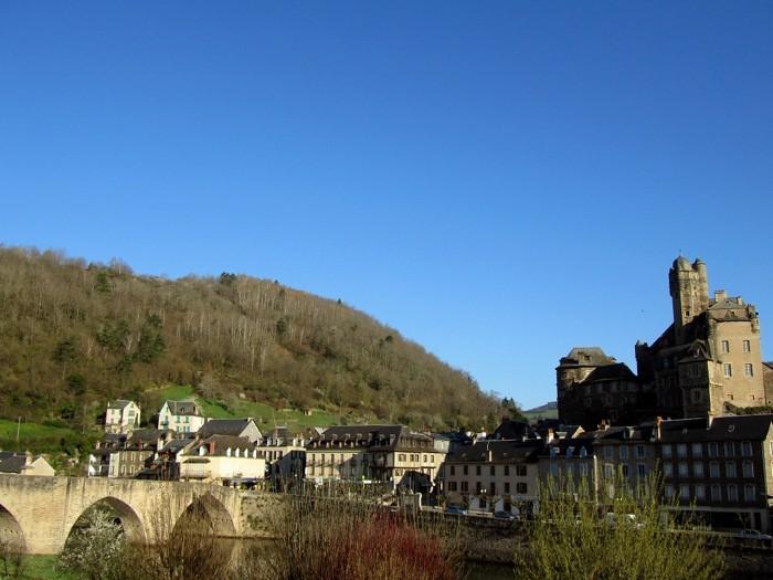 Randonnée à Estaing, village Aveyronnais