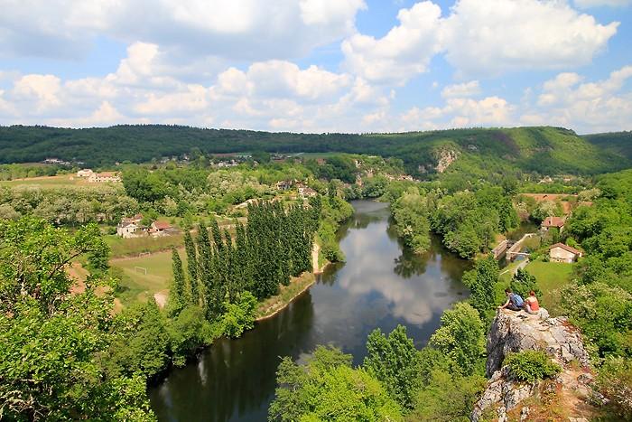 Le Lot vu depuis le village de Saint Cirq Lapopie