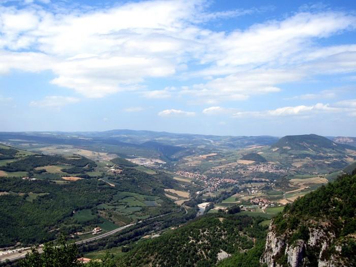 Vallée du Tarn, depuis la Puncho d'Agast, Millau