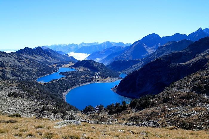Lacs d'Aumar et d'Aubert depuis la Hourquette d'Aubert