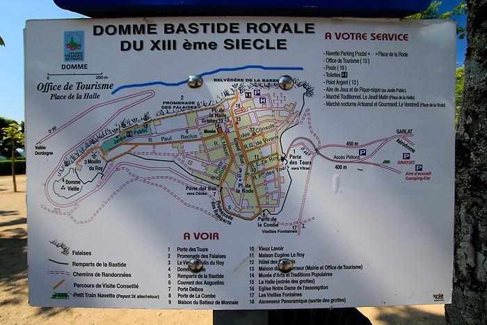 Plan de la ville de Domme