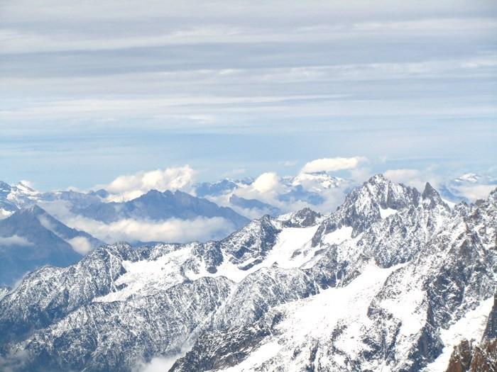 Vue depuis l'Aiguille du Midi - Mont Blanc - Alpes