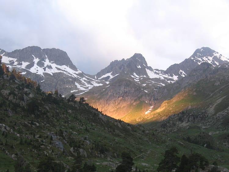 Lever de soleil sur la vallée du Marcadau